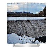 Campton Pond Dam  Shower Curtain