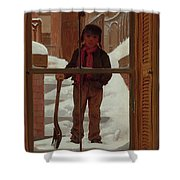 Can I Shovel Off The Snow ? Shower Curtain