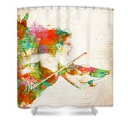 Can You Hear Me Now Shower Curtain by Nikki Smith