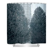 Cana Island Lighthouse Wisconsin Shower Curtain