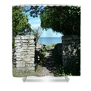 Cana Island Walkway Wi Shower Curtain