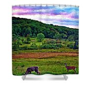 Canaan Valley Evening Impasto Shower Curtain