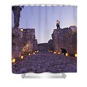 Canaanite Entrance Gate To El Megiddo Shower Curtain