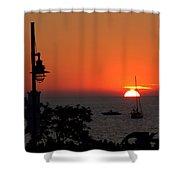 Canada 150th Birthday Sunset 4 Shower Curtain