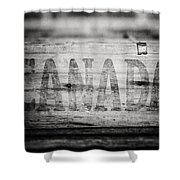 Canada In Black And White Shower Curtain