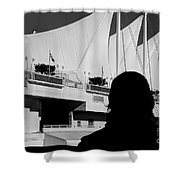 Canada Place Wings Silhouette Shower Curtain