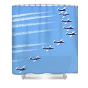 Canadian Air Force Snowbirds Shower Curtain