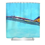 Canadian Armed Forces Cf-18 Hornet Shower Curtain