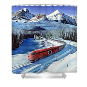 Canadian At Morant's Curve Shower Curtain