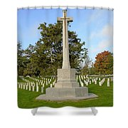 Canadian Cross Of Sacrifice Shower Curtain