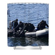 Canadian Divers Being Helped Aboard Shower Curtain
