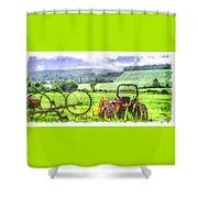 Canadian Farmland With Tractor Shower Curtain