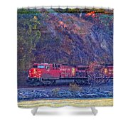 Canadian Pacific Reds Shower Curtain