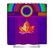 Canadian Palladian Shower Curtain