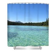 Canadian Paradise In The  Mountains Shower Curtain