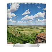 Canadian Prairie At Head-smashed-in Buffalo Jump Shower Curtain