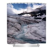 Canadian Rockies Glacier Shower Curtain