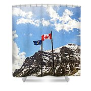 Canadian Rockies - Digital Painting Shower Curtain