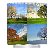 Canadian Seasons Shower Curtain by Mircea Costina Photography