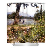 Canadian Sunday Out By The Lake Shower Curtain