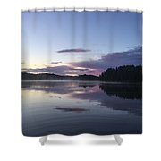 Canadian Sunrise Shower Curtain