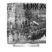 Canadian Wwi Nostalgic Collage Shower Curtain