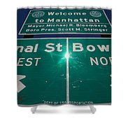 Canal And Bowery Shower Curtain