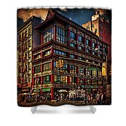 Canal And Center Streets New York City Shower Curtain