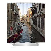 Canal And Gondola Shower Curtain