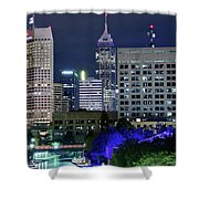 Canal At Night Shower Curtain