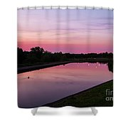 Canal At Sunset Shower Curtain