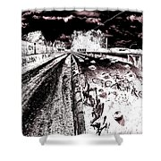 Canal De Lachine - Rail Bridge Shower Curtain