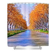 Canal Du Midi Shower Curtain
