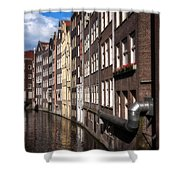 Canal Houses Shower Curtain