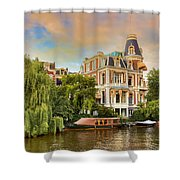 Canal In Amsterdam Shower Curtain