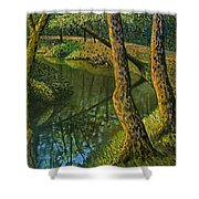 Canal In Sunlight Shower Curtain