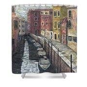 Canal In Venice Shower Curtain