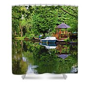 Canal Living Shower Curtain