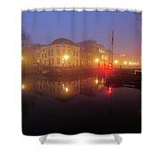 Canal Lock Weerdsluis In Utrecht In The Evening 9 Shower Curtain
