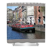 Canal Lunch Shower Curtain