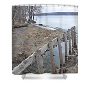 Canal Meets River Shower Curtain
