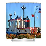 Canal Park Dry Dock Shower Curtain