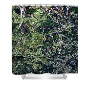 Canal Reflections Abstract Shower Curtain