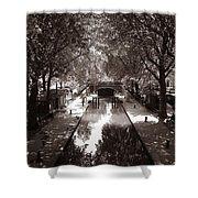 Canal Saint Martin 2 Shower Curtain