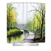 Canal Sowerby Bridge Shower Curtain