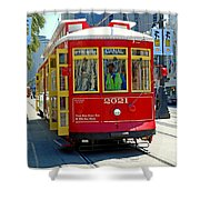 Canal Street Cable Car Shower Curtain