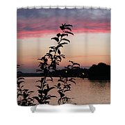 Canal Sunset Shower Curtain