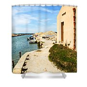 Canal - Trapani Salt Flats Shower Curtain