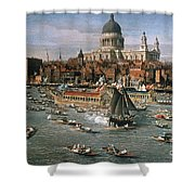 Canaletto: Thames, 18th C Shower Curtain