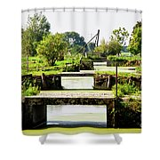Canals And Bridges Shower Curtain